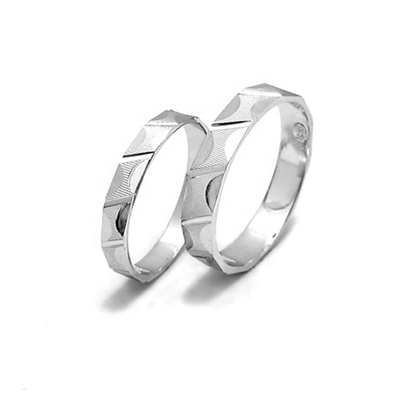 Simple Silver Ring Personalize Couple Rings Sterling Silver Ring