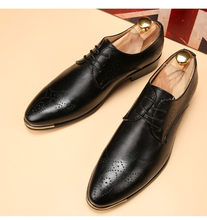 Обувь с перфорацией типа «броги» для мужчин; Мужские итальянские ботинки; Классические кожаные модельные брендовые Белые Официальные туфл...(Китай)