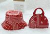 Red  purse hand hat