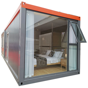 Super Low Cost 2 Containers Prefabricated House Fast Build Light Steel Villa Tiny Prefab House Apartment