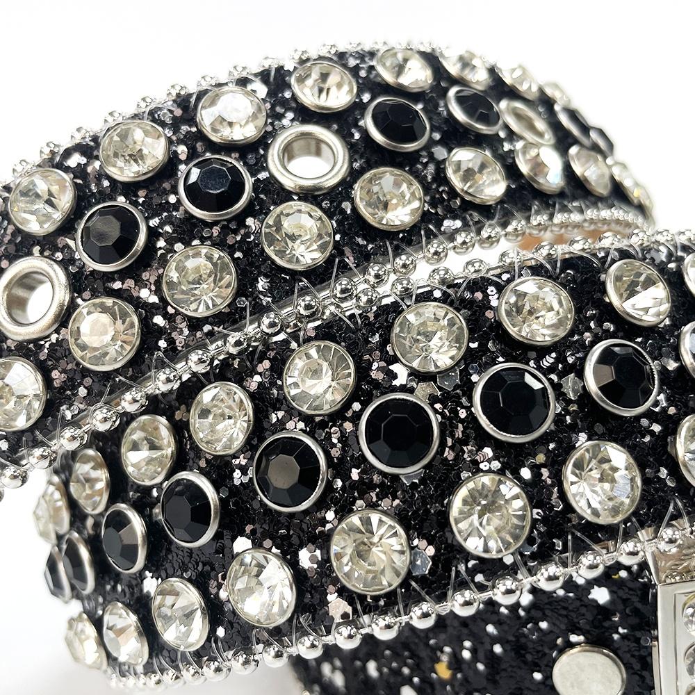 Sundo 2021 Western Fashion Custom Rhinestones Cowgirl and Cowboy Belt Men Luxurious Leather Studded Belt for Unisex