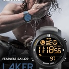 Dual Quality Smartwatch NORTH EDGE LAKER Sports Watches Dual Time Pedometer Alarm Clock Waterproof 50M Heart Rate SmartWatch CallWatch