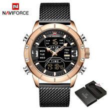 Naviforce Top Brends мужские спортивные часы, роскошные мужские наручные часы s zegarek jam tangan anti air pria, мужские часы(China)