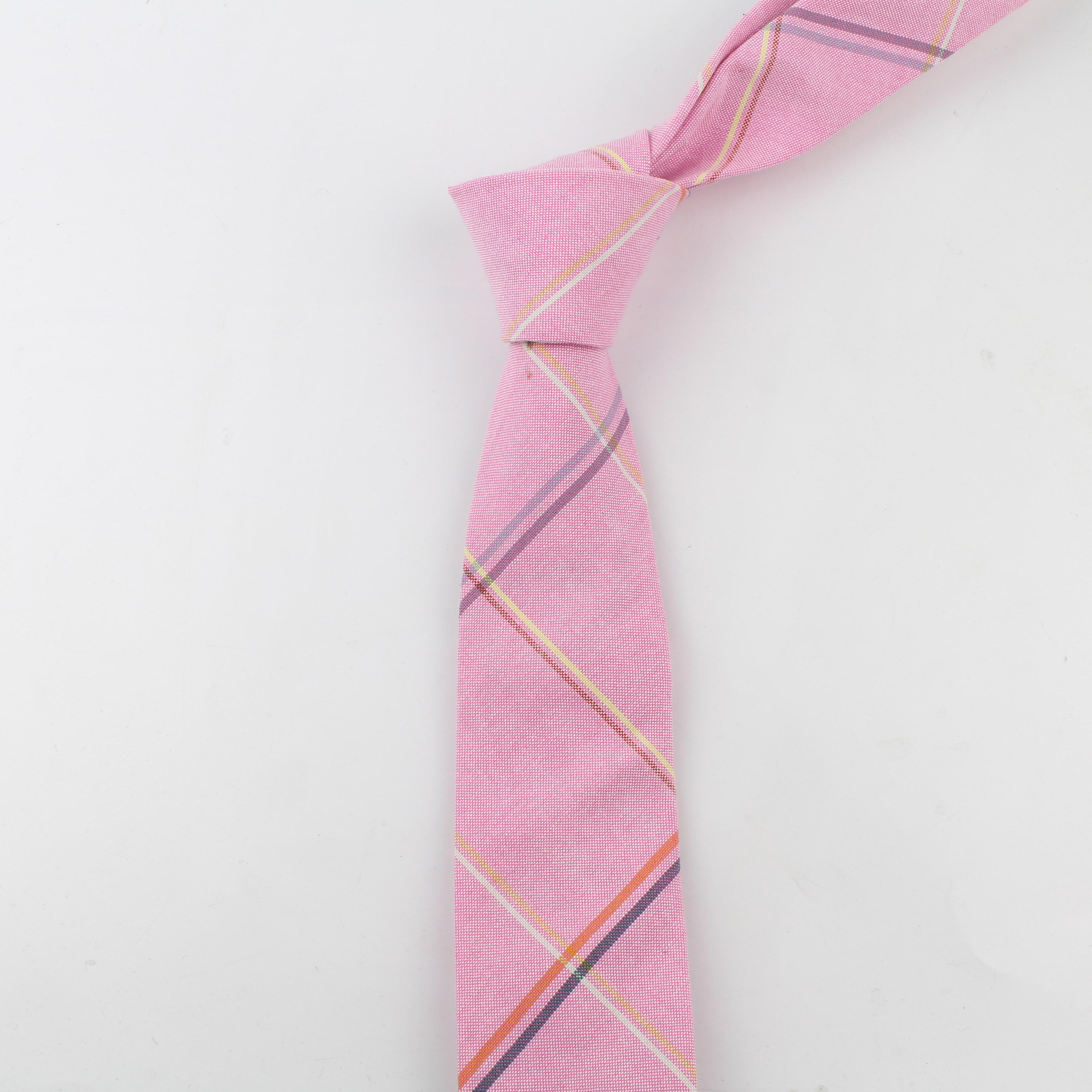 Мягкий мужской галстук в полоску из 100% хлопка яркий галстук в клетку искусственные тонкие галстуки мужской деловой маленький галстук дизайнерский галстук
