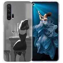 Курение Девушка эстетическое чехол для huawei Honor 8X 9X Pro Play 3 3e Y9 20 S 8C 9 10 8A Lite Y7 Y6 2019 мягкий чехол для мобильного телефона c Coque(Китай)