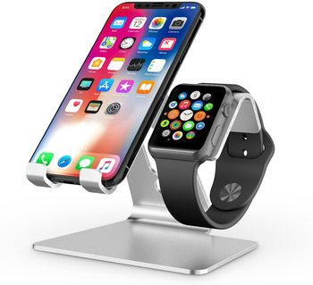 New product 2020 aluminum 2 in 1 wrist watch Universal Desktop Stand Holder mobile stand cell phone desktop holder