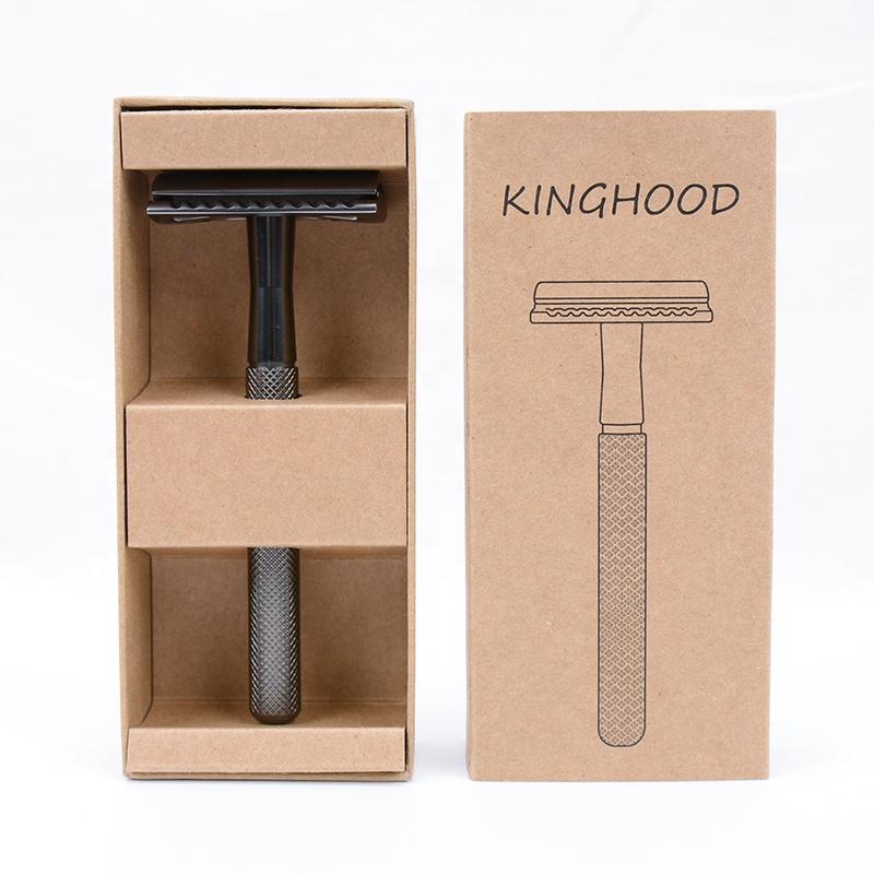 Double edge barber razor gift box package free sample