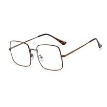 SO & EI Ретро квадратные мужские и женские металлические очки в оправе с прозрачными линзами модные очки женские оптические очки для близорук...(Китай)
