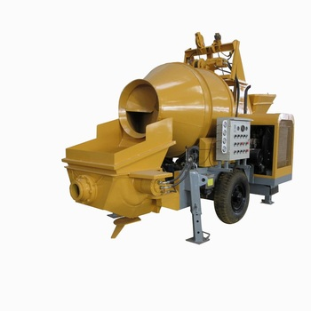 building works HBT45RS trailer-mounted concrete mixer pumps