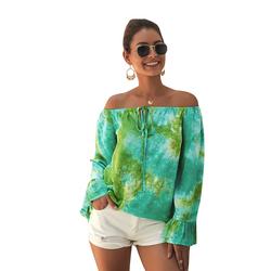 Пляжные женские топы с открытыми плечами в стиле бохо, летние блузки, блузка, короткий топ, футболка