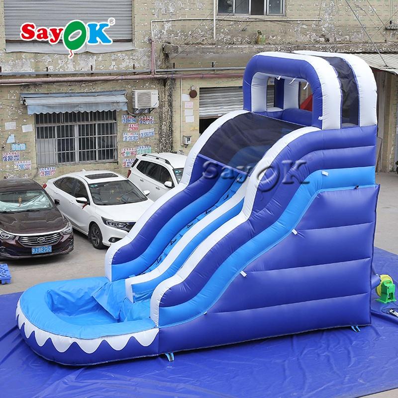 Guangzhou PVC Коммерческая надувная прыгающая горка для продажи надувные водные горки для детей на открытом воздухе