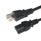 Power Cable Pc 16awg 18awg 14awg Ac Cable 3 Prong US Plug AC Power Cord Cable For Laptop PC Adapter Supply Power Cords