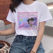 Женская забавная футболка с рисунком Давида микеланжело, гранж, 90s(China)