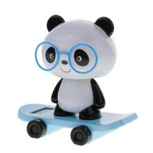 Милый на солнечной энергии скейтборд тряски голова кукла автомобиль/окно/стол орнамент детская игрушка(Китай)