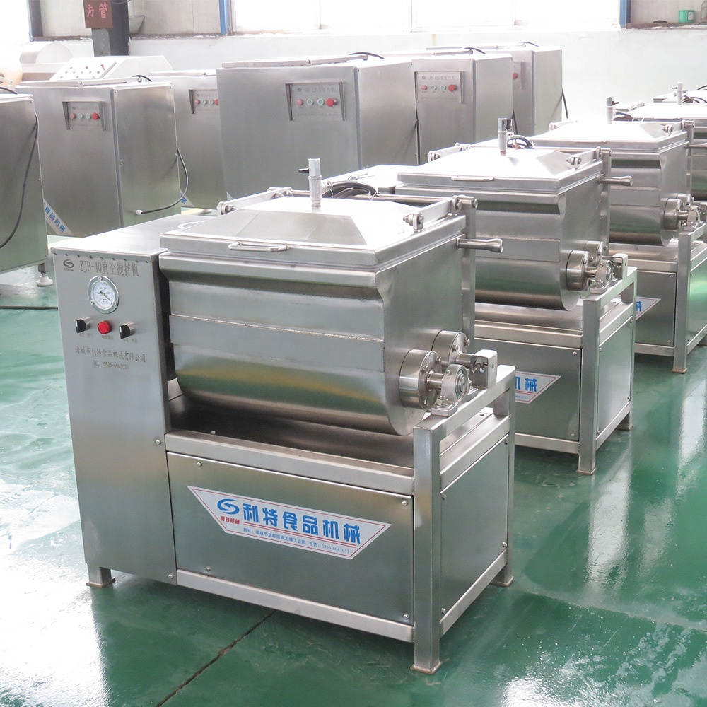 High efficiency sus 304 stainless steel vacuum meat mixing machine