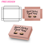 2020 Empty Holographic Square Glitter Butterfly Bulk Pink Private Label Custom Paper False 25mm 3D Mink Eyelash Packaging Box