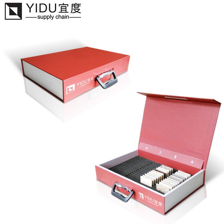 Бесплатная $1000 купон наличные дешевые кварцевые каменные образцы коробки каменные образцы дисплей мраморный дисплей алюминиевая коробка упаковка витрина плитки