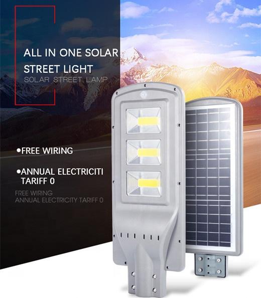 High conversion solar panel Intelligent radar sensor ABS solar led street light