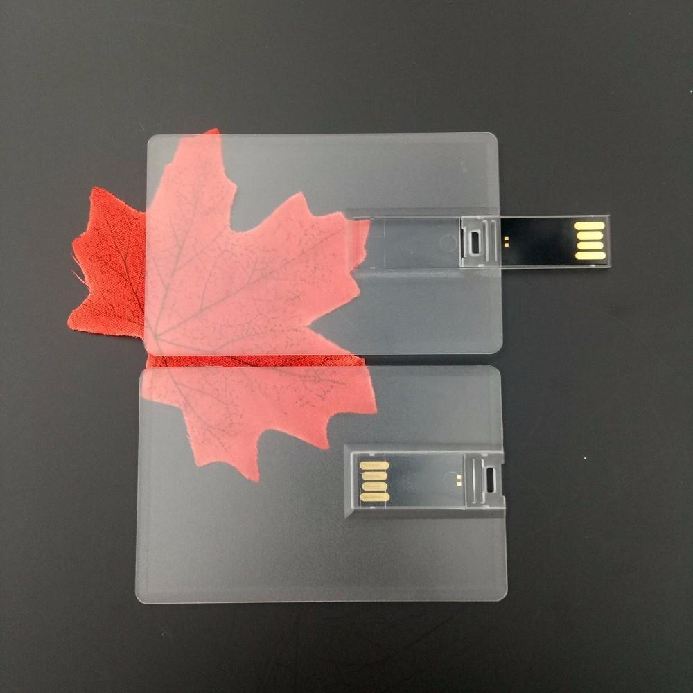Custom Logo Transparent Card USB Flash Drive USB Key Flash Card Business Gift USB Stick Flash Pen Drive 32GB 16GB 8GB 4GB 2GB - USBSKY | USBSKY.NET