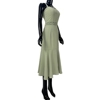 wholesale dress vendors boutique women clothing for adults solid color frock design for ladies casual dresses women