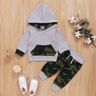 Baby Boy Clothes Baby Boy Winter Camouflage Hoodie Newborn Infant Sweatshirt Pants Clothes Set