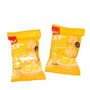 100g cheese flavor biscuit OEM britannia biscuits low carb cheese Cream Cracker Biscuits