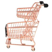 Тележка из супермаркета хозяйственная модель тележки Настольный держатель Органайзер аксессуар для стола Декор(Китай)