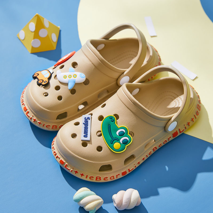 Новое поступление, милые дизайнерские быстросохнущие садовые туфли, легкие сетчатые детские сабо EVA