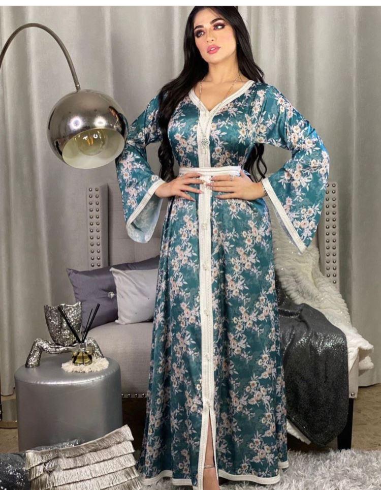 Hot Sale Plus Size Muslims Abaya Latest Designs Long Dress STAB025