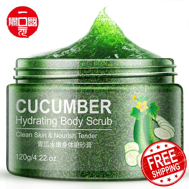 One dollar Cucumber Shea Butter Peach Exfoliante Foot Hand Care Deep Cleansing Whitening Body Scrub