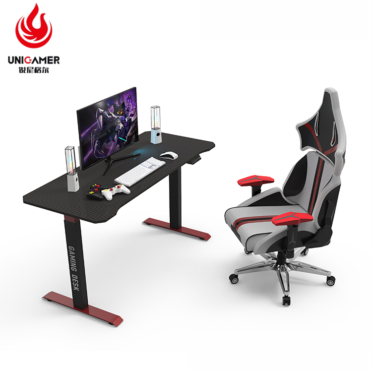 Luxury I Shaped Moveable Study Table Home Office Height Adjustable Gaming Computer Desk