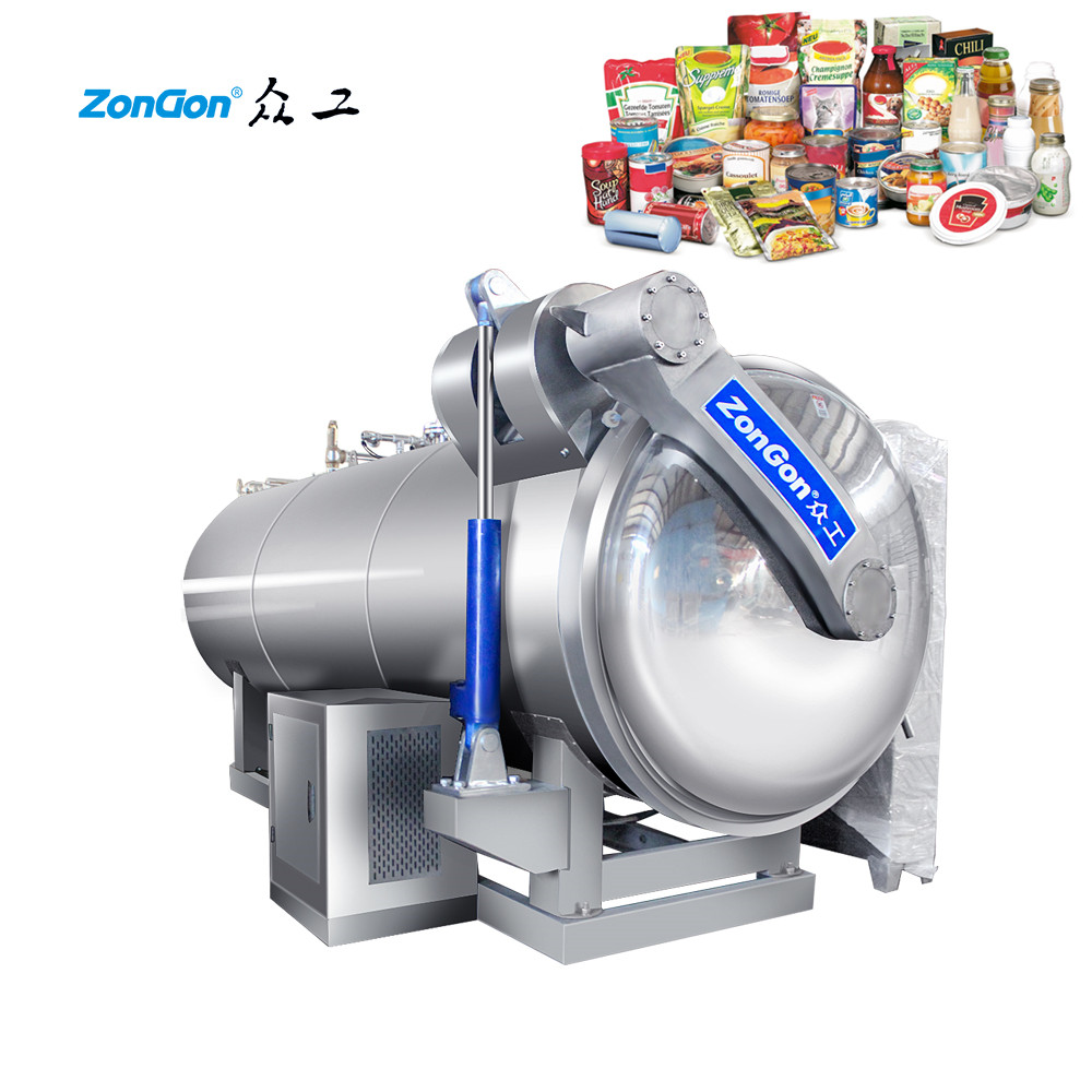 High quality of retort machine for japanese beef meat from 2002