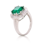 Ring Silver Silverrings Brand New With High Quality DIY Jewelry Green Stone Ring Silver Jewelry For Women