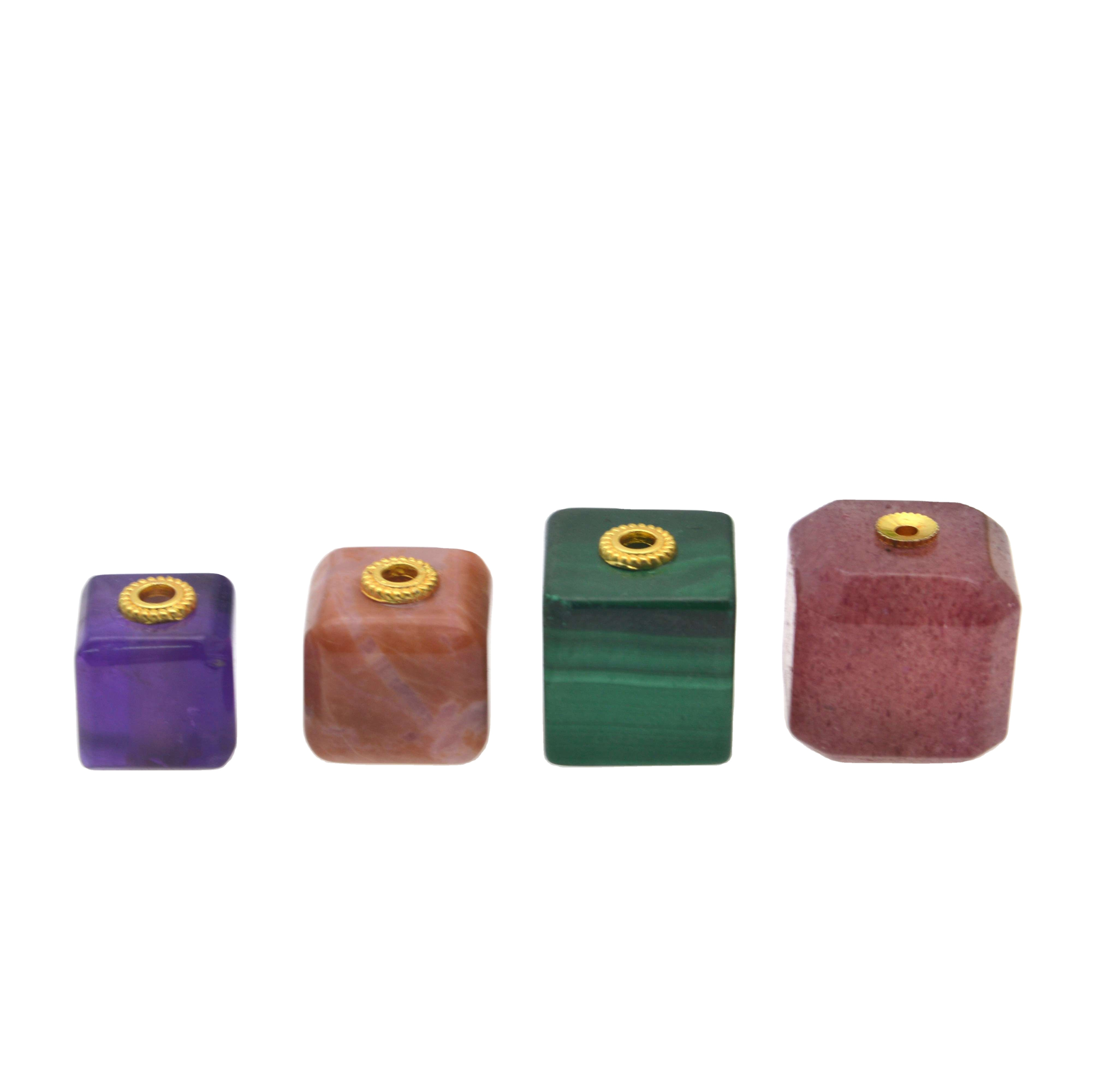 Gemstone Square Crystal Copper Beads Jewelry Findings Tool Set Ring Earring Extend Chain Jewelry Accessories For Necklace Making