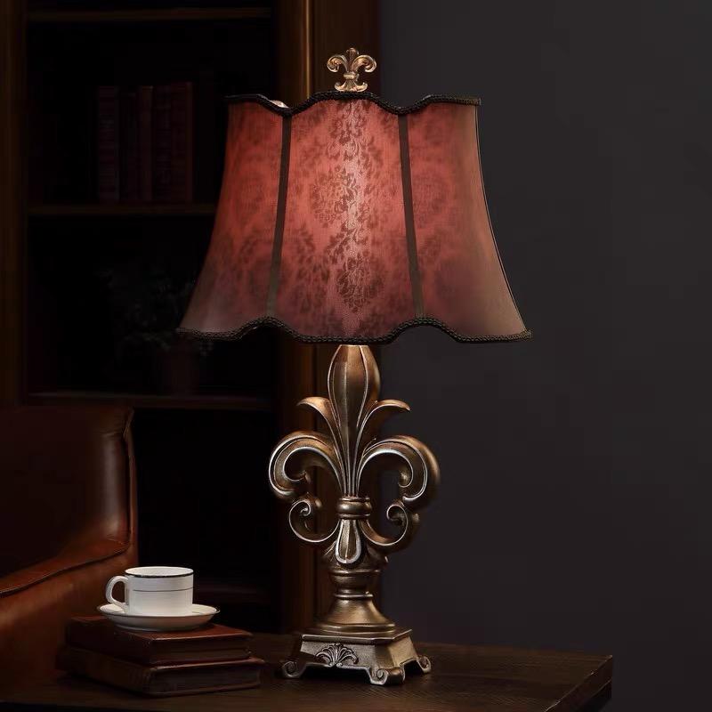 Марокканская разноцветная смоляная настольная лампа для внутреннего декора