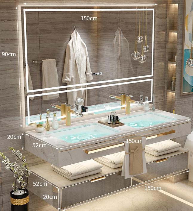 New Bathroom Design Wall Mounted Classic Luxury Bathroom Vanity Cabinet With Sink Buy Bathroom Vanities Vanity Bathroom Vanity Cabinet Product On Alibaba Com