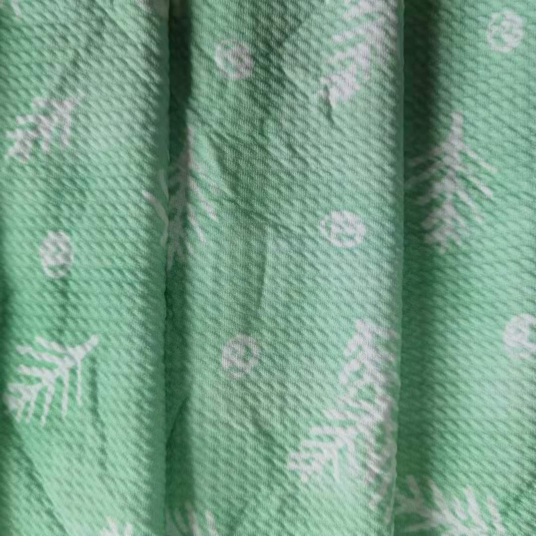 Custom Printing Jacquard For Garments No MOQ In Stock Bullet/liverpool Texture Fabric Knit