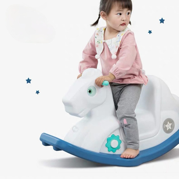 Indoor Updated new design baby home ride plastic rocking horse for kids