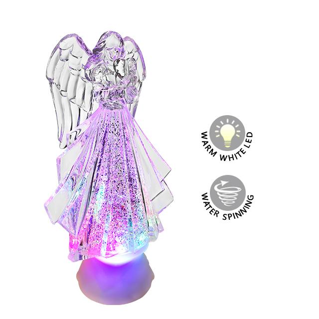 Светодиодный светильник, рождественский подарок, акриловый Ангел