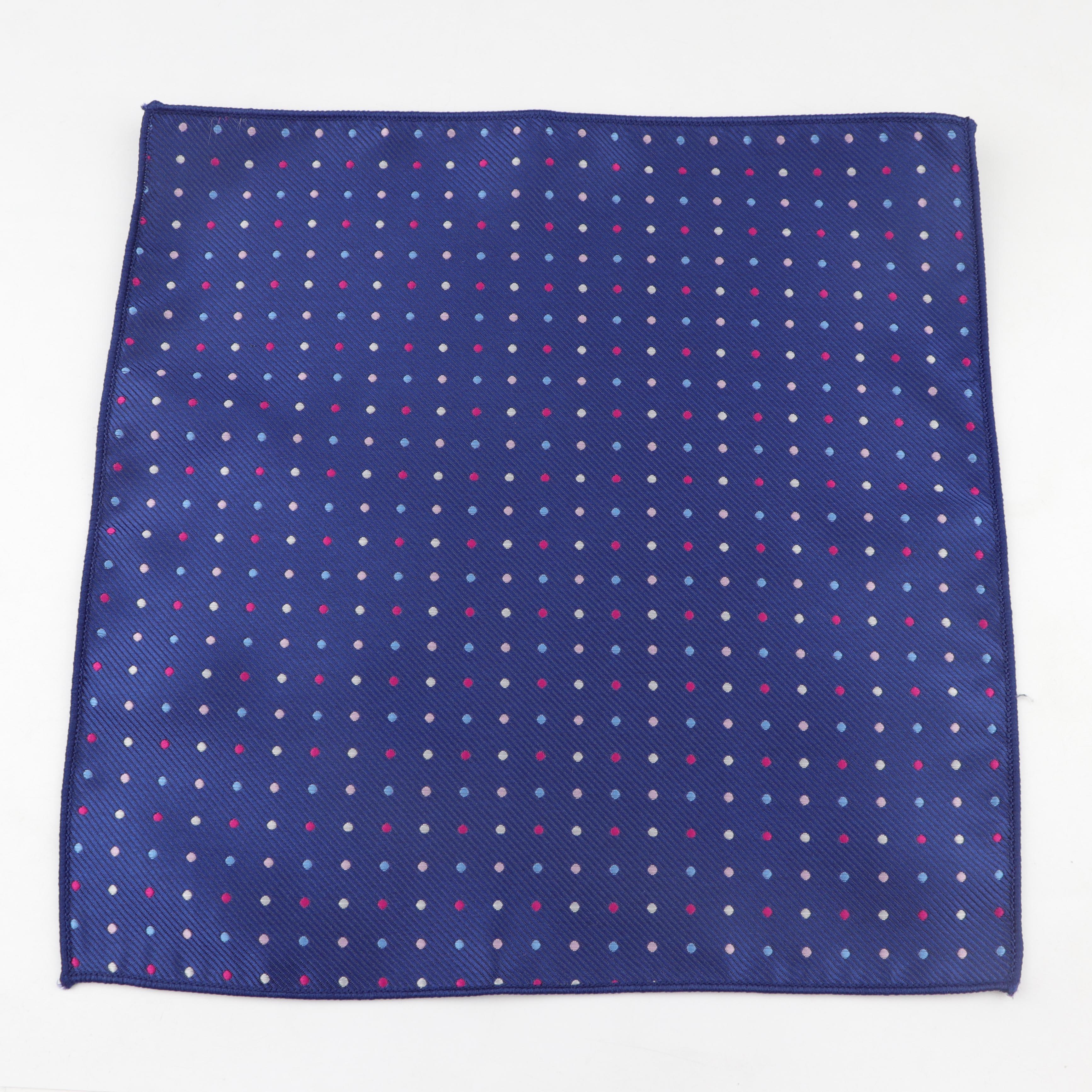 Мужской дизайнерский носовой платок из полиэстера, тканый Карманный квадратный платок в горошек со звездами, деловой Повседневный носовой платок с карманами