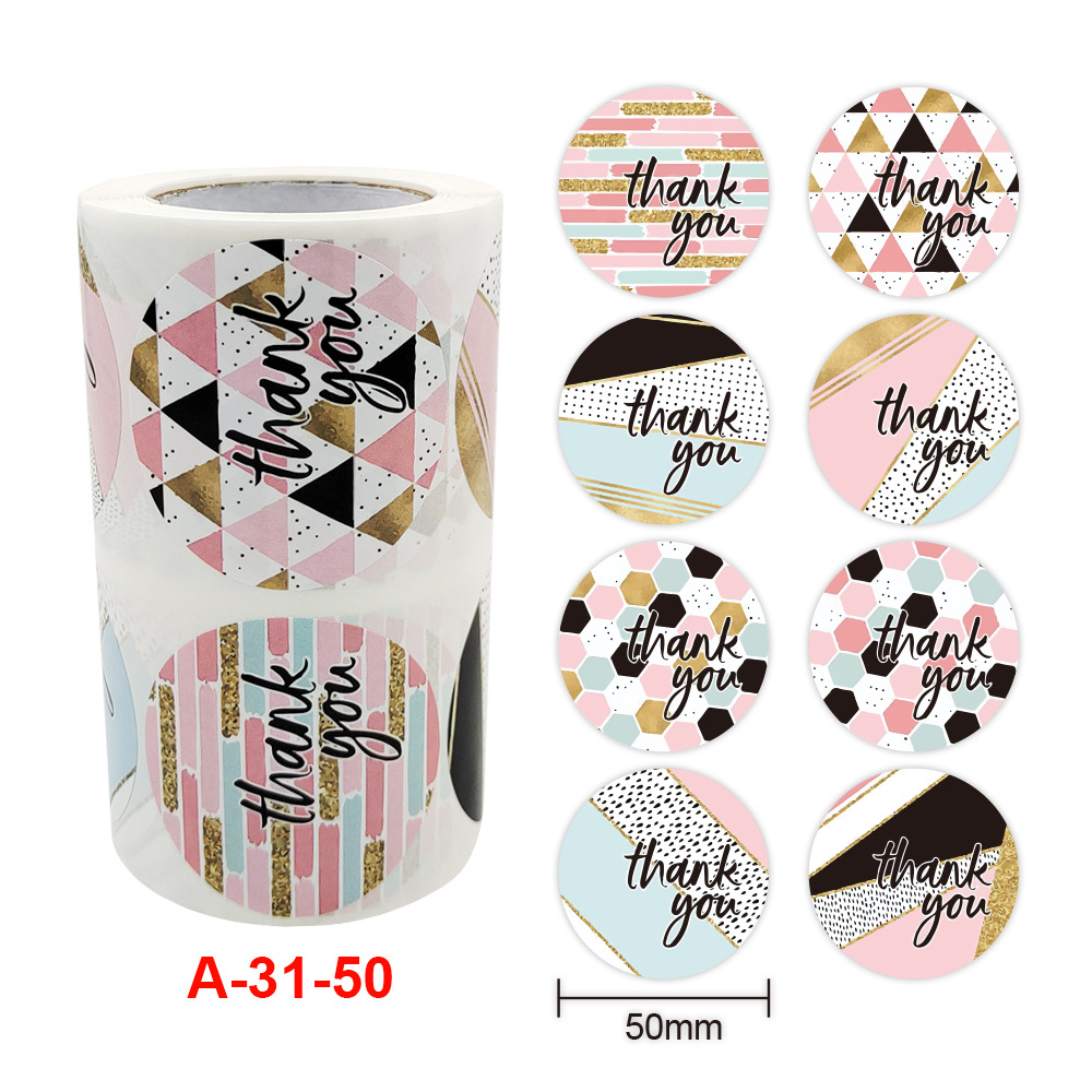 500pcs Roll 2 Inch Thank You Stickers Customized 5cm Label Stickers Roll Buy Thank You Sticker 2 Inch Business Sticker 5cm Custom Thank You Stickers Product On Alibaba Com