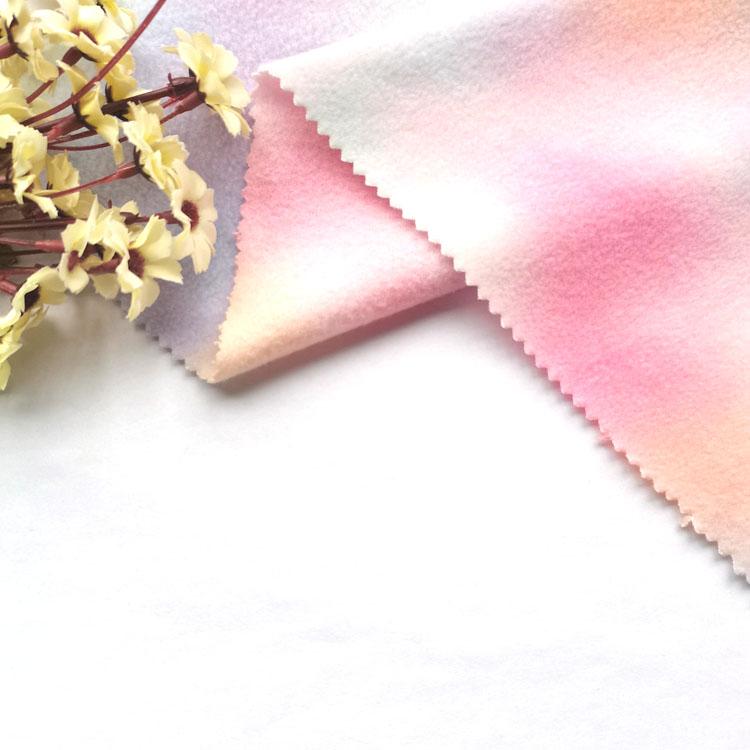 hot selling tie dye 100 polyester micro fleece polar fleece fabric for women clothes