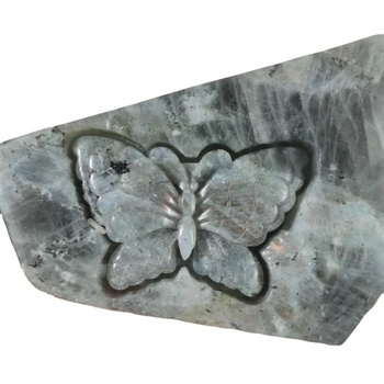 wholesale hand carved freeform customized shaped natural purple labradorite carving for gift