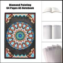 А5, 64 страницы, блокнот, сделай сам, искусство, алмазная живопись, дневник, аксессуары, специальная круглая Алмазная мозаика, вышивка, павлин, ...(Китай)