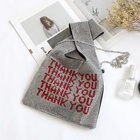 Soft Diamond Handbags Full Rhinestone Bling Shopping Tote Bag Thank You Purses Bag