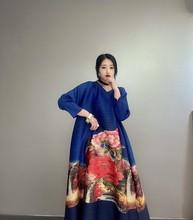 Женское винтажное платье LANMREM, свободные платья а-силуэта большого размера с винтажным принтом, YJ307, лето 2020(Китай)