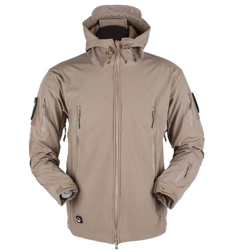 New fashion men autumn winter windproof waterproof breathable warm pockets three-in-one coat long sleeve outdoor jacket