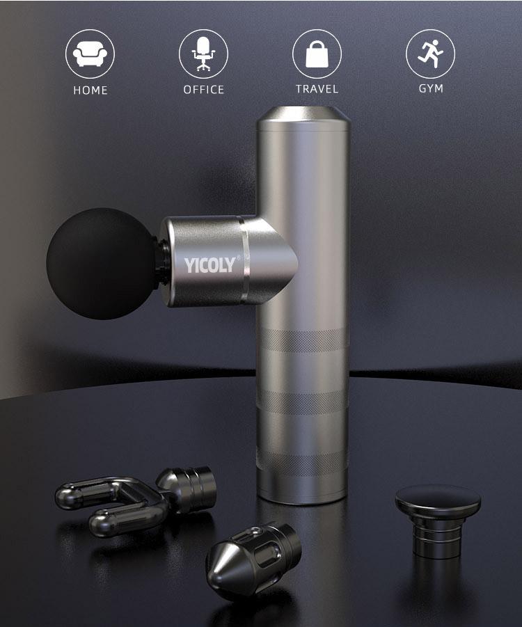 Dropshipping Comfortable handle heatable sport mini massage gun for muscle