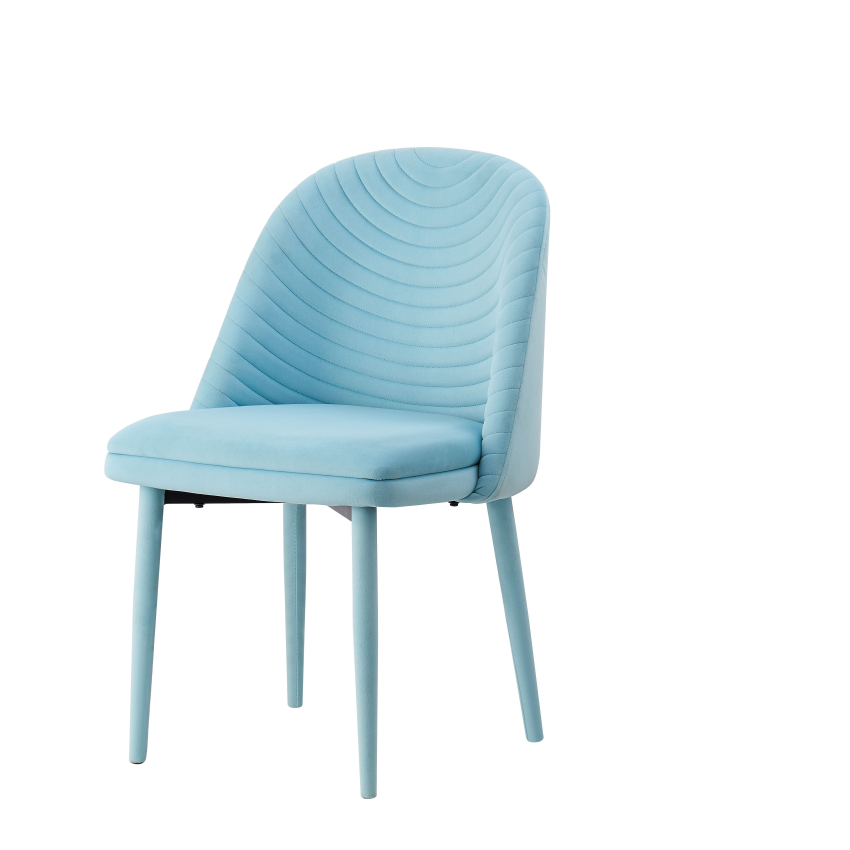 Pu Leather Dining Chair Blue Chair Dining Room Funiture