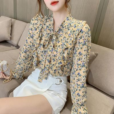 2021 Wholesale OEM New fashion Women Ladies Spring Elegant Long Sleeve V Neck Tops T-shirt korean clothes women